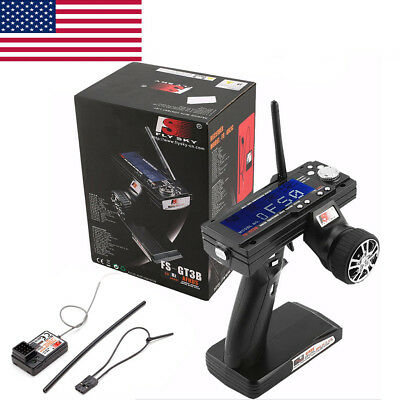FLYSKY FS-GT3B 2 4G 3CH Transmitter Receiver Radio Control For RC Car Boat