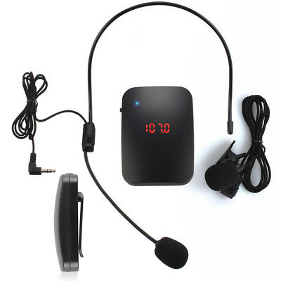 Wireless Lavalier Lapel Clip Microphone FM Transmitter Receiver Mic System