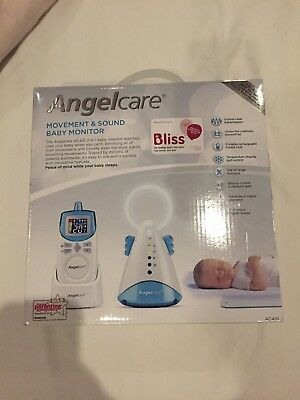 Angelcare AC401 Movement & Sound Baby Monitor Used But In Good W.C. boxed