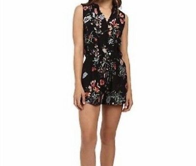 2bad6079e5a Rebecca Taylor Womens Sleeveless Floral Romper Size 4 Lined Shorts 100% Silk