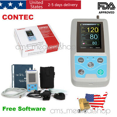24H Ambulatory Blood Pressure Monitor,NIBP Holter+cuff+PC Software,lowest price