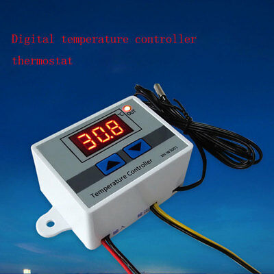 LCD 12/220V Digital LED Temperature Controller Thermostat Control Switch UK new