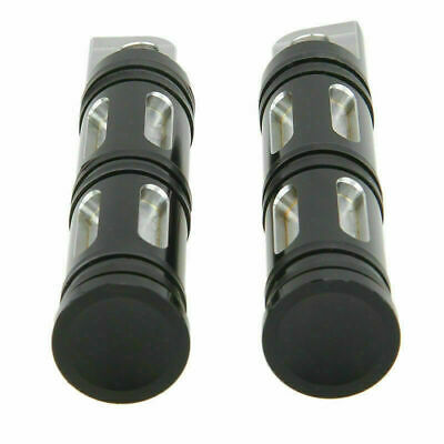 Contrast Cut Foot Peg for Universal Harley Dyna Touring Electra Glide Black New Auto Parts & Accessories