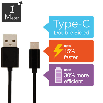USB-C Sync Charger Charging Cable Genuine Samsung Galaxy S9 / S9+ S8 Plus 2M