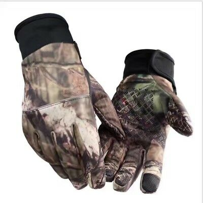 Mens Full Finger Racing Gloves Cycling Bicycle Riding Fishing Gloves Touchscreen
