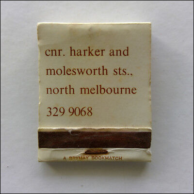 The Great Australian Bite Harker & Molesworth Nth Melb 3299068 Matchbook (MK47)
