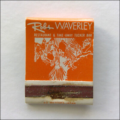 Robs Waverley Restaurant Take-Away Tucker Bar Blackburn 2321755 Matchbook (MK47)