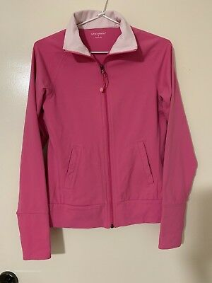 Womens Zip Front Yoga/Exercise Jacket by Tuff Athletics, Pink, Size S