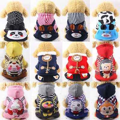 Chihuahua Teddy Dog Puppy Small Pets Jumpsuit Sweater Coat Clothes Costume
