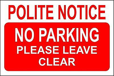 No Parking Keep Clear Private safety sign