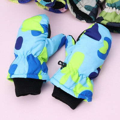 Winter Waterproof Warm Mittens Exquisite Boy Kids Children Outdoor Skiing Gloves
