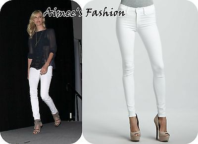 Next White Skinny Jeans Ladies Stretch Regular And Long
