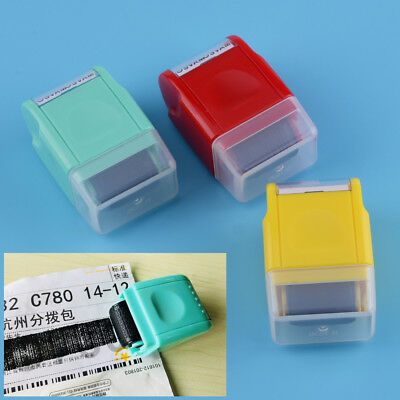 Stationery Tool Mini Guard Your ID Messy Code Security SelfInking Roller Stamp