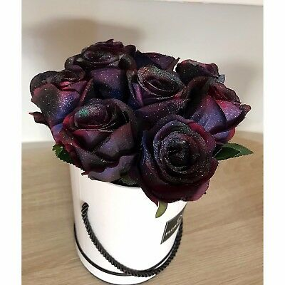 Galaxy Glitter Roses. Gifts For Her. Anniversary. Birthday Gifts
