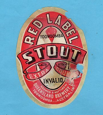 Queensland  Brewery  Ltd.  Toowoomba.  Australia.     Red  Label  Stout.