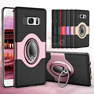 For Samsung Galaxy S7 edge Ring Holder Shockproof Armor Case Kickstand Cover