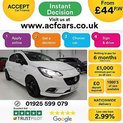 2015 White Vauxhall Corsa 1.4 90 Limited Edition 5Dr Hatch Car Finance Fr £44 Pw