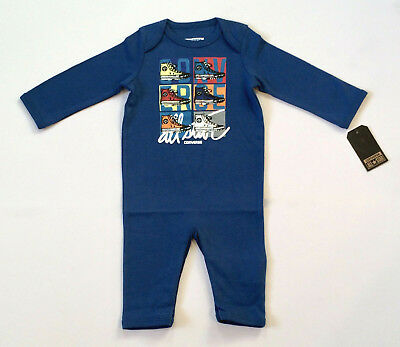 Baby Converse Romper Blue Age 6-9 Months BNWT