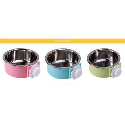 Pet Feeders Dog Puppy Cat Food Drink Water Bowl Pet Dish Hanger Cage FI