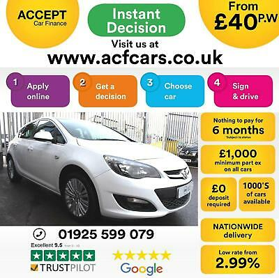 2015 White Vauxhall Astra 1.6 115 Excite Petrol 5Dr Hatch Car Finance Fr £40 Pw