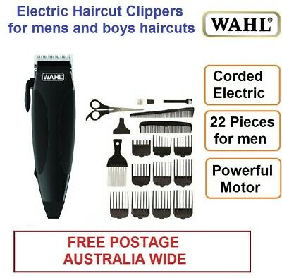 WAHL 22pc Electric Clippers Hair Beard Trimmer Mens Haircut Clipper Grooming Set