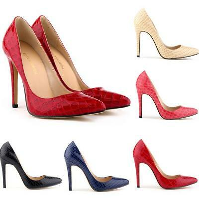 Women Ladies Stiletto Sandals Slip On High Heels Pointed Candy-color Party Shoes