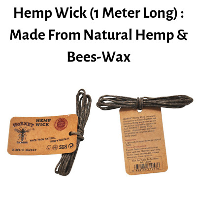 HORNET Hemp Wick 1 meter Lighting Wax Rope BeesWax Wick Waxed Thread Cotton Cord