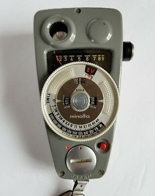 Rare Vintage Minolta View Meter 9 with Strap and Case in Excellent condition!