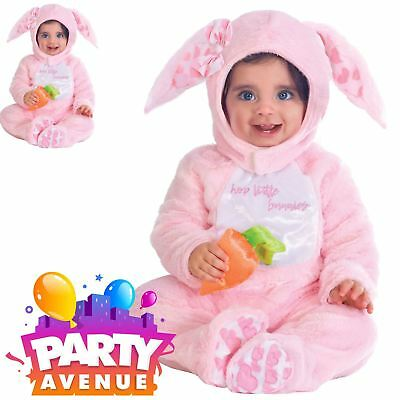 Girls Little Wabbit Pink Baby Toddler Fancy Dress Costume