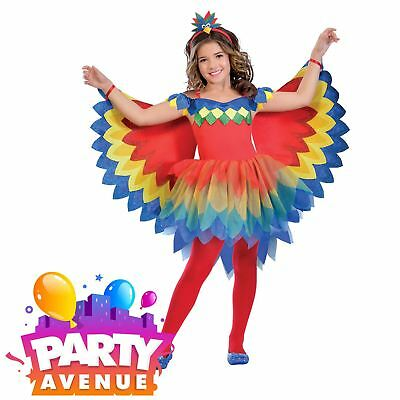 Girls Pretty Parrot Fairy Book Week Childrens Fancy Dress Costume
