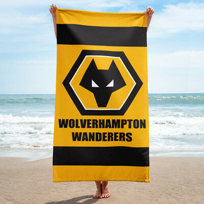 Wolverhampton Wanderers FC Football Gift The Wolves Super Size Beach Towel