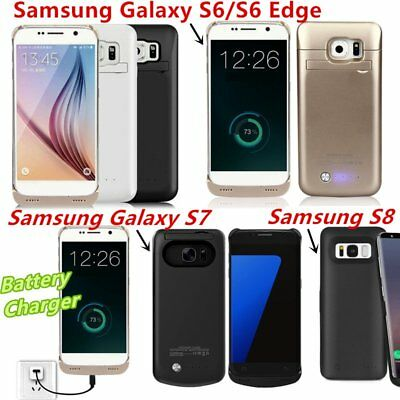 External Backup Battery Power Bank Charger Case For Samsung Galaxy S6/S7/S8  YK