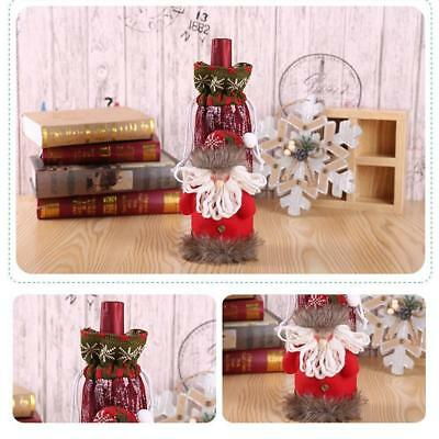 Merry Christmas Santa Wine Bottle Bag Cover Xmas Dinner Party Tables Decor hot