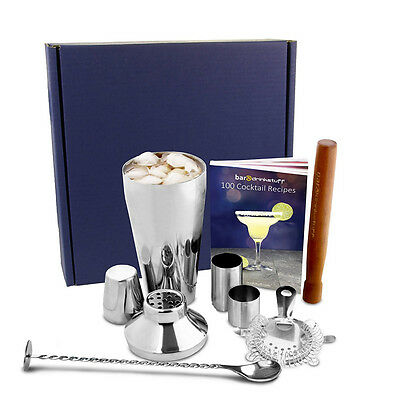 Manhattan Cocktail Shaker Set and Home Cocktail Making Kit