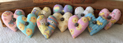 Primitive Ornies Easter Mini Hearts  Bowl Fillers Make Do's Prim Ornies Tucks