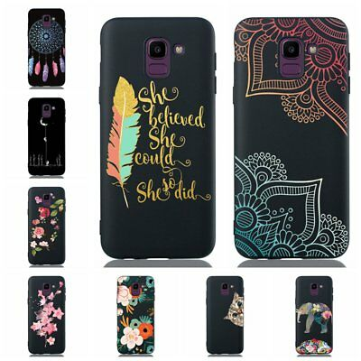 For Samsung Galaxy J6 2018 Shockproof Soft Silicone Painted TPU Back Case Cover