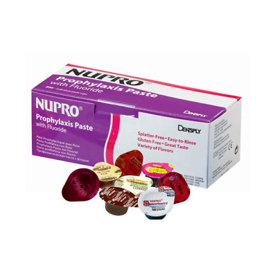 Dentsply Nupro Medium Mint Prophy Paste with Fluoride. Box of 200 Unit Dose Caps