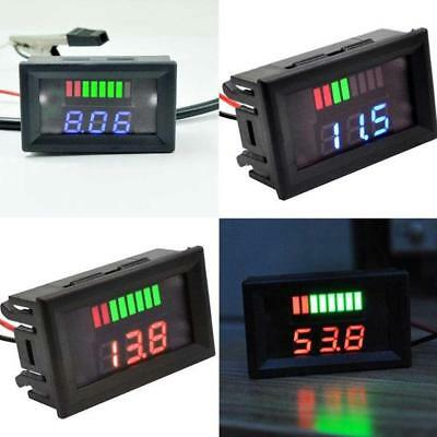 Car Marine Motorcycle LED Digital Voltmeter Voltage Meter Battery Gauge 12V-60V