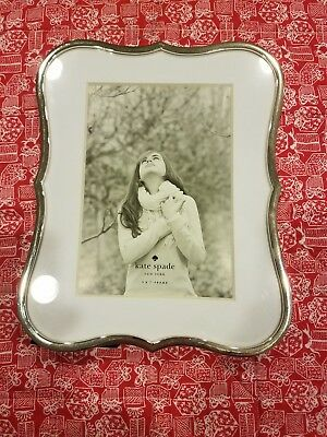 Kate Spade New York Crown Point Silverplate 5x7 Picture Frame