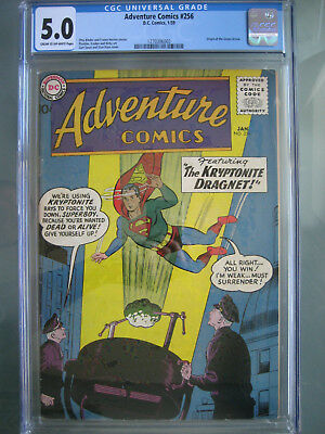 Adventure Comics #256 First Printing CGC 5.0 **Origin Green Arrow** DC 1959