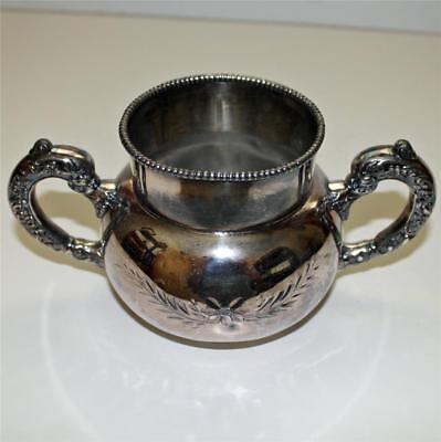 Antique Silver Plate 2 Handled Sugar Bowl by Empire Silver Plate Co.