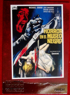 BRITISH HORROR COLLECTION - HORRORS OF THE BLACK MUSEUM - FOIL Card F7