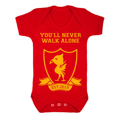 Liverbird Est 2019 Baby Vest Football Liverpool Birthday New Gift Grow Club