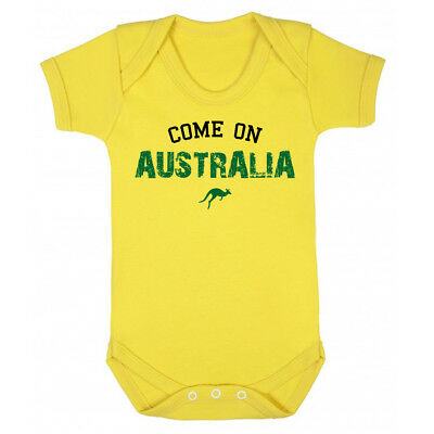 Come On Australia Rugby Baby Vest World Cup 2019 Union League Newborn Gift Grow