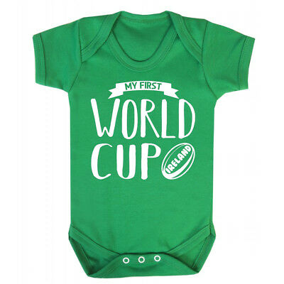 My First World Cup Italy Baby Vest 1st Rugby 2019 New Italian Gift Grow