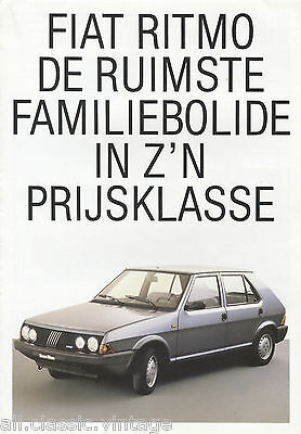 FIAT - Ritmo brochure/prospekt/folder Dutch 1983