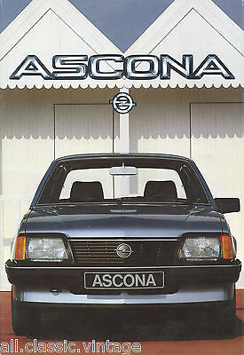 OPEL - Ascona brochure/prospekt/folder Deutsch 1983