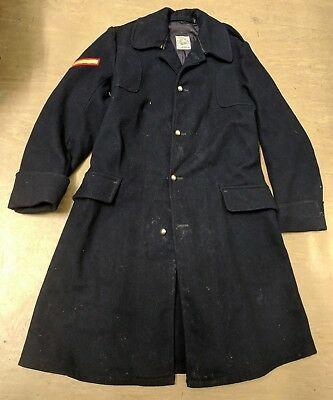 British Military Vintage Navy Blue Army Footsguard O.R. Wool Greatcoat Size 16