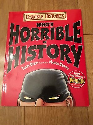 Whos Horrible in History (Horrible Histories), Deary, Terry, Used; Good Book