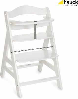 Hauck ALPHA+ WOODEN HIGHCHAIR WHITE Highchair Baby Feeding BNIP